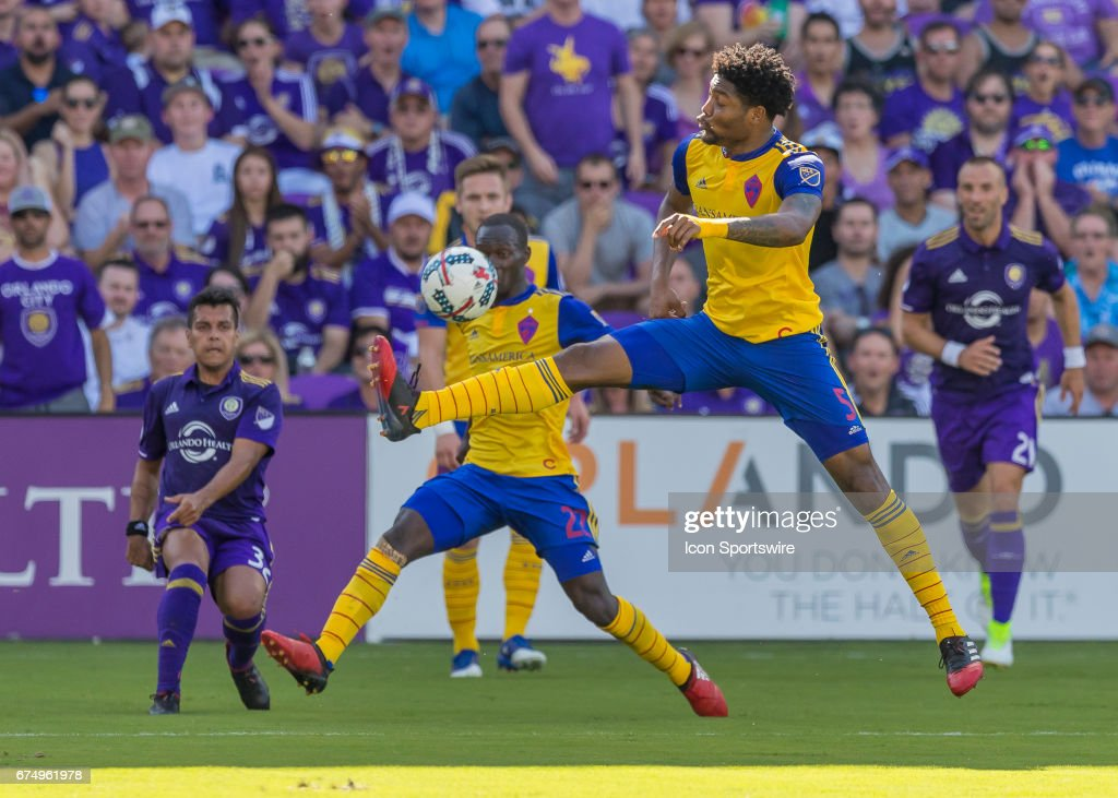 SOCCER: APR 29 MLS - Colorado Rapids at Orlando City SC : ニュース写真