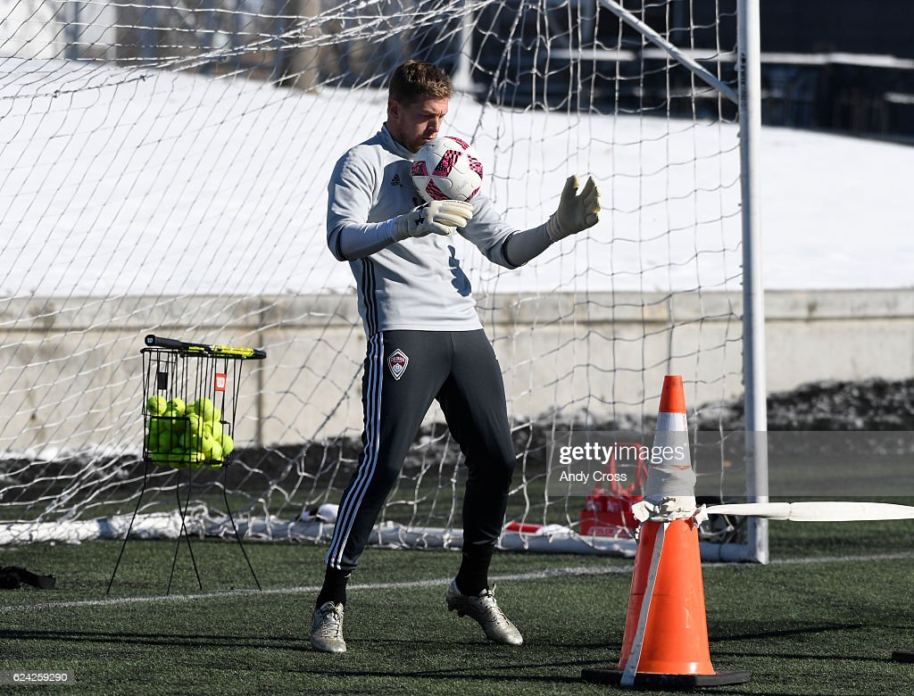 Colorado Rapids goal keeper Zac MacMath working out on the practice fields of Dick's Sporting Goods Park November 18, 2016.