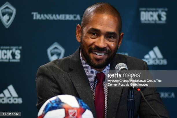 August 27: Colorado Rapids introduced new head coach Robin Fraser at Dick's Sporting Goods Park on Tuesday. August 27, 2019.