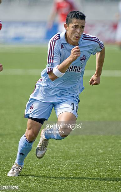 Colorado Rapids midfielder Hercules Gomez chases the ball during the match against the Toronto FC in Toronto Ontario at BMO Field on June 2 2007...