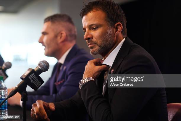 Colorado Rapids new head coach Anthony Hudson is introduced by Pádraig Smith team interim general manager and sporting director on Thursday November...