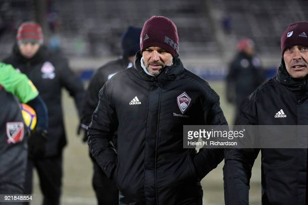 Colorado Rapids new head coach Anthony Hudson middle walks off the field after his team lost to Toronto FC during the CONCACAF Champions League Game...