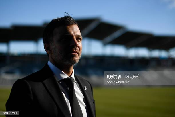 Colorado Rapids new head coach Anthony Hudson poses for a portrait on Thursday November 30 2017 Hudson formerly coached the New Zealand national team