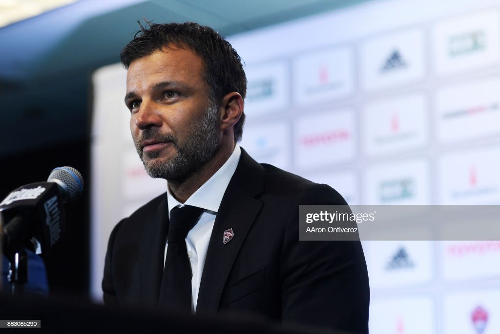Colorado Rapids new head coach Anthony Hudson speaks to the media as he is introduced on Thursday, November 30, 2017. Hudson formerly coached the New Zealand national team.