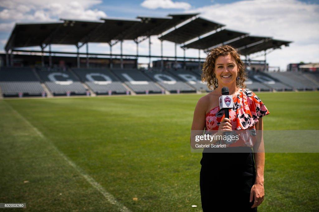 Colorado Rapids team broadcaster Jordan Angeli... : News Photo