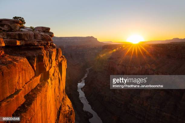Colorado river and Grand Canyon view at Sunrise