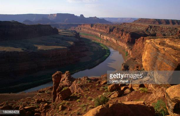Colorado River from the Shafer Trail in the Island in the Sky region of Canyonlands National Park.