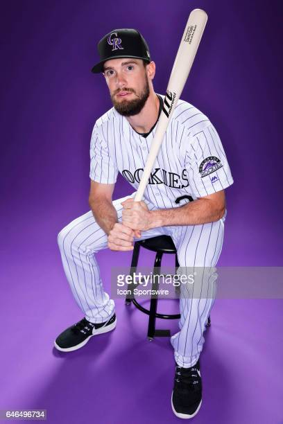 Colorado Rockies outfielder David Dahl poses for a photo during the Colorado Rockies photo day on Feb 23 2017 at Salt River Fields at Talking Stick...
