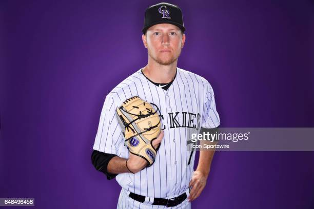 Colorado Rockies pitcher Kyle Freeland poses for a photo during the Colorado Rockies photo day on Feb 23 2017 at Salt River Fields at Talking Stick...