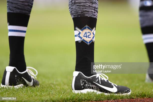Colorado Rockies players were to honor Jackie Robinson during a baseball game against the Washington Nationals at Nationals Park on April 15 2018 in...