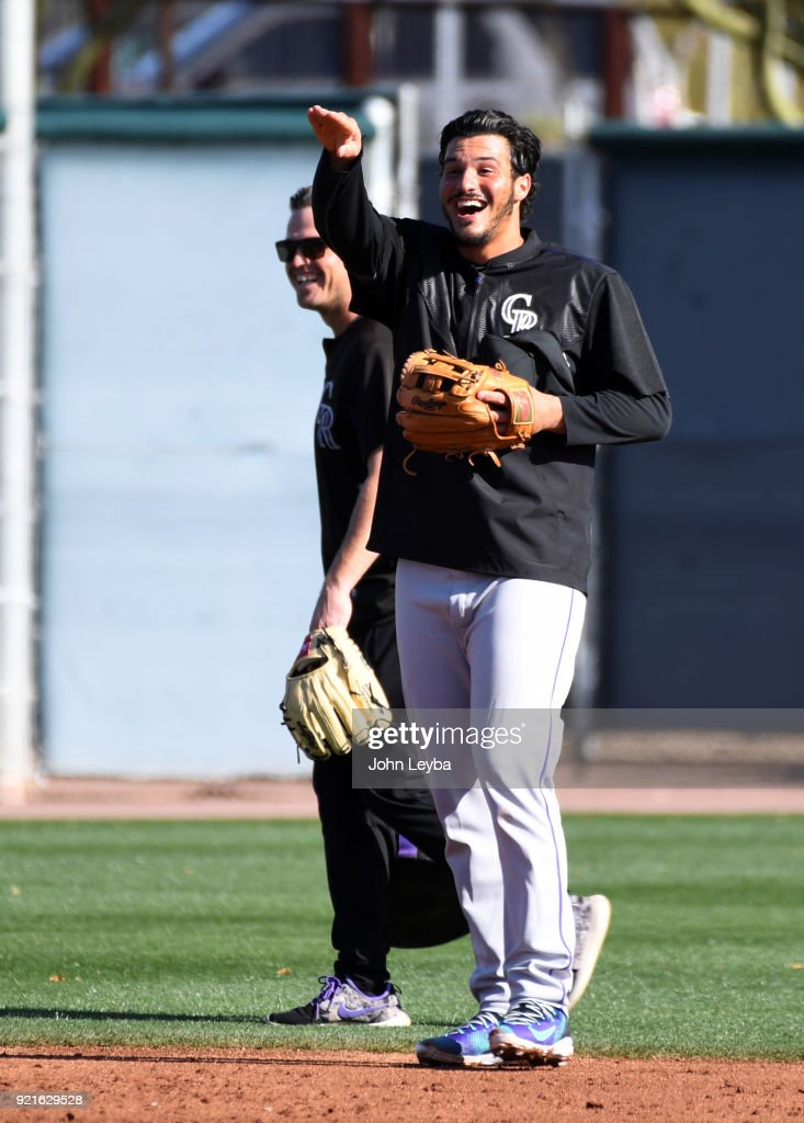 Colorado Rockies Spring Training Salt River Fields at Talking Stick : Foto di attualità