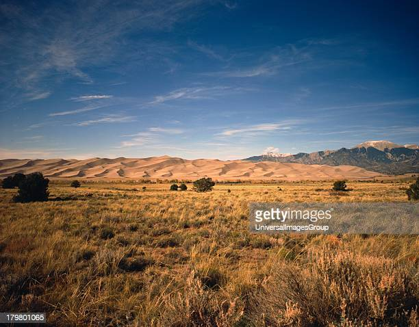 Colorado Sand Dunes of Great Sand Dunes National Park and Preserve in the Foothills of the Sangre de Cristo Mountains