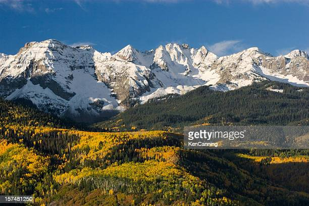 colorado snow capped peak - aspen colorado stock photos and pictures