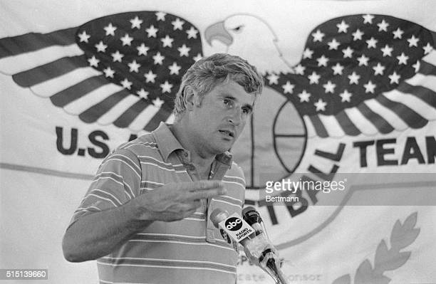 Colorado Springs Colo USA Olympic Basketball Coach Bobby Knight held a news conference at the National Sports Festival Knight said he would like to...