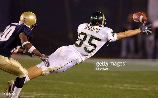 Colorado State Dustin Osborn dives for a reception during 5130 loss to Navy in the Poinsettia Bowl at Qualcomm Stadium in San Diego Calif on Thursday...