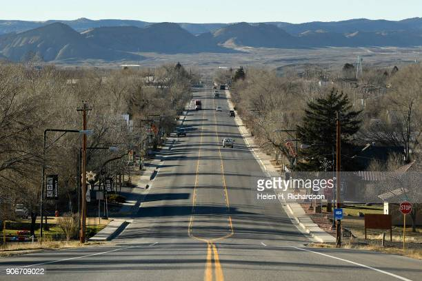 RANGELY CO DECEMBER 5 Colorado State highway 64 turns into a quiet Main street on December 5 2017 in Rangely ColoradoThis small northwestern town is...