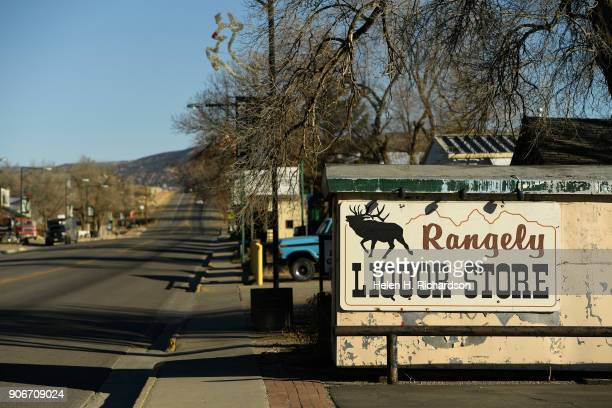 RANGELY CO DECEMBER 5 Colorado State highway 64 turns into quiet Main street on December 5 2017 in Rangely ColoradoThis small northwestern town is...