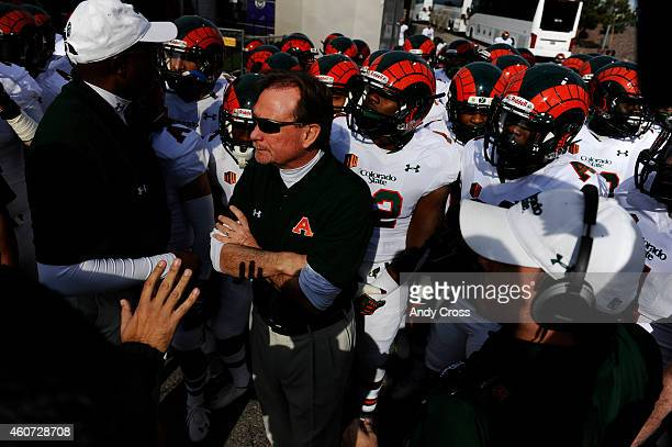 Colorado State interim head coach Dave Baldwin waits to come out onto the field to play the Utah Utes in the Royal Purple Las Vegas Bowl at Sam Boyd...