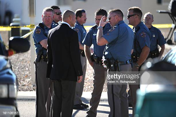 Colorado state patrol stock photos and pictures getty images colorado state patrol officers talk at the scene a weld county deputy was shot and killed sciox Image collections