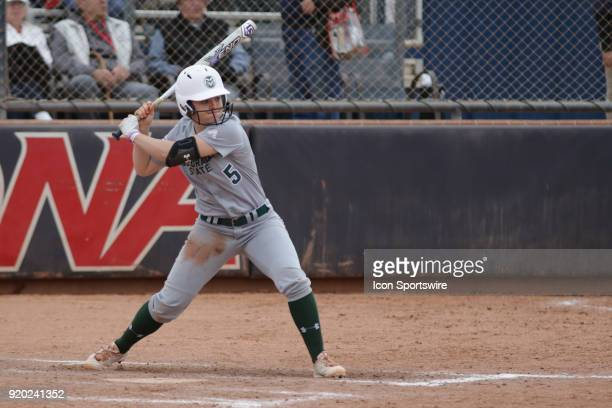 Colorado State Rams infielder Haley Donaldson bats during the a college softball game between Colorado State Rams and the Arizona Wildcats during the...