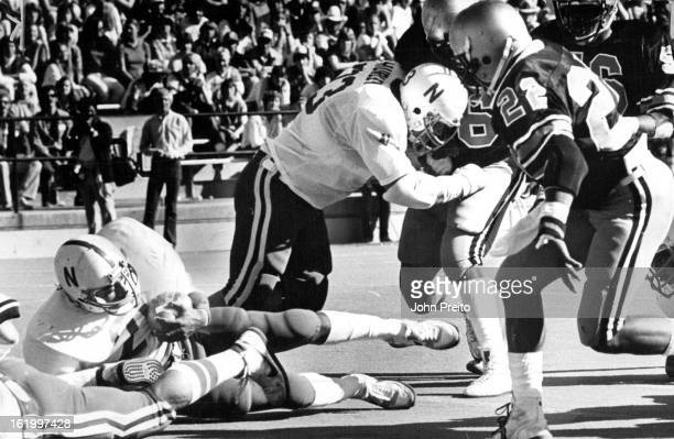 OCT 26 1980 Colorado University Athletics Football Nebraska Tailback Roger Craig Homesteads in Colorado End Zone Craig who scored three times...