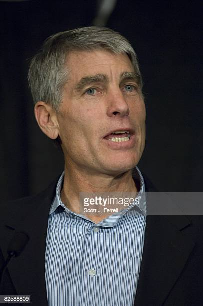 Colorado U.S. Senate candidate Mark Udall, during a news conference on Senate races for the fall campaign.