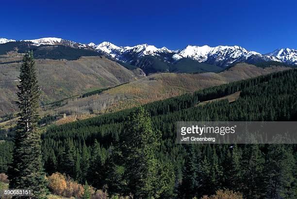 Colorado Vail Rocky Mountain Resort Scenic View Of Gore Range