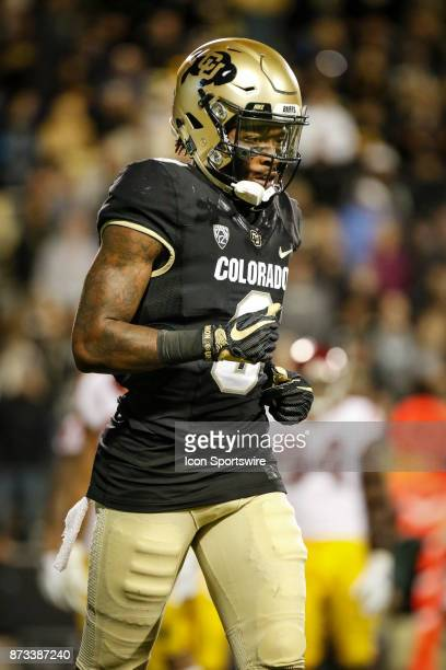 Colorado wide receiver Juwann Winfree against USC during the Colorado Buffalos game versus the USC Trojans on November 11 at Folsom Field in Boulder...