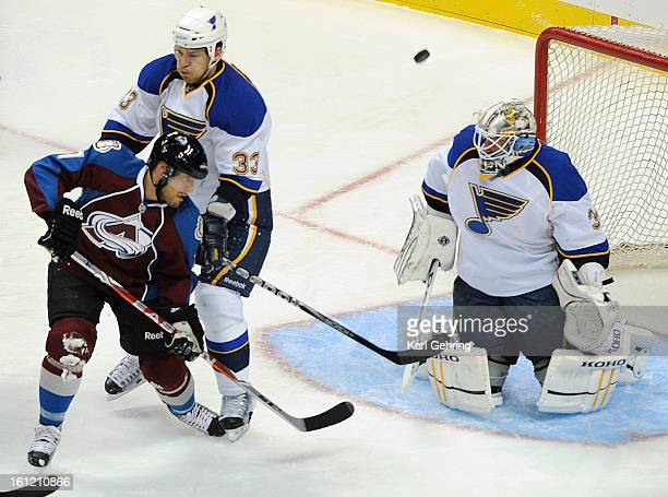 Colorado winger David Van Der Gulik tried to deflect a shot towards Blues goalie Jake Allen in the second period The Colorado Avalanche hosted the St...