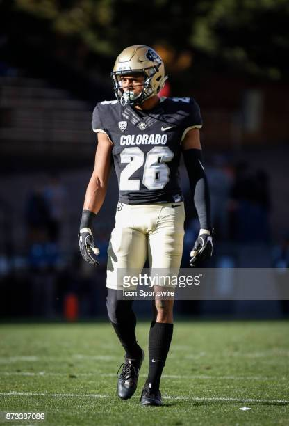 Colorado's Isaiah Oliver lines up against USC during the Colorado Buffalos game versus the USC Trojans on November 11 at Folsom Field in Boulder Co...