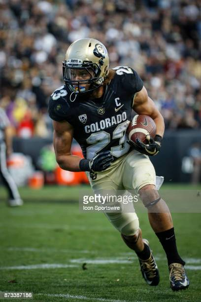 Colorado's Phillip Lindsay plays during the Colorado Buffalos game versus the USC Trojans on November 11 at Folsom Field in Boulder Co USC won the...