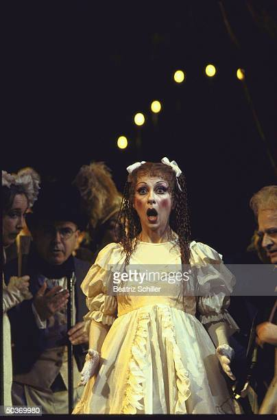 Coloratura soprano Natalie Dessay as the doll Olympia in Offenbach's Les Contes d' Hoffman on stage at the Metropolitan Opera