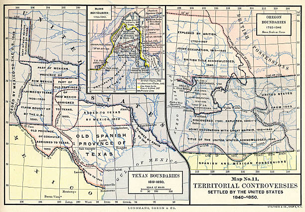 Map No Territorial Controversies Settled By The US - Map of us 1840