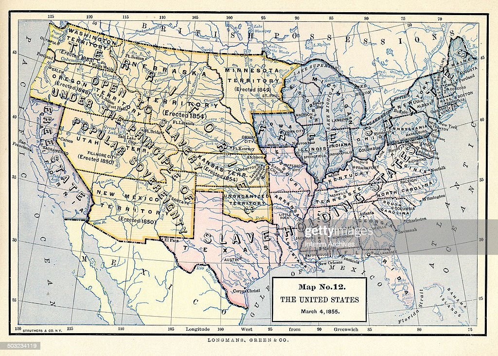 Color-coded map, entitled \'Map No 12, The United States, March 4 ...