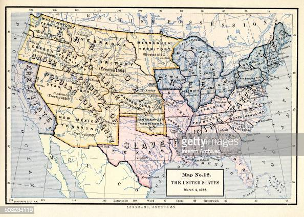 Map No The United States March Pictures Getty Images - Us slavery map