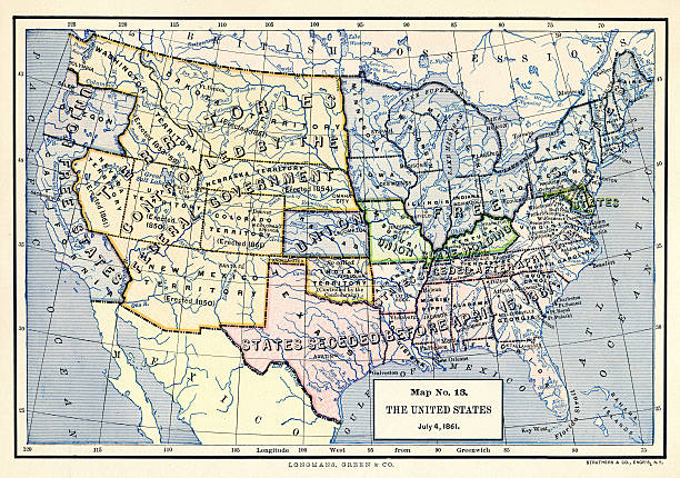 Map No The United States July Pictures Getty Images - Us map 1861