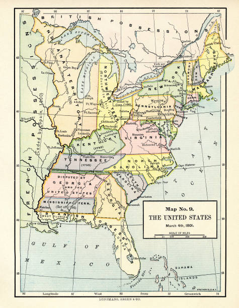 Map No 9, The United States, March 4, 1801\' Pictures | Getty Images