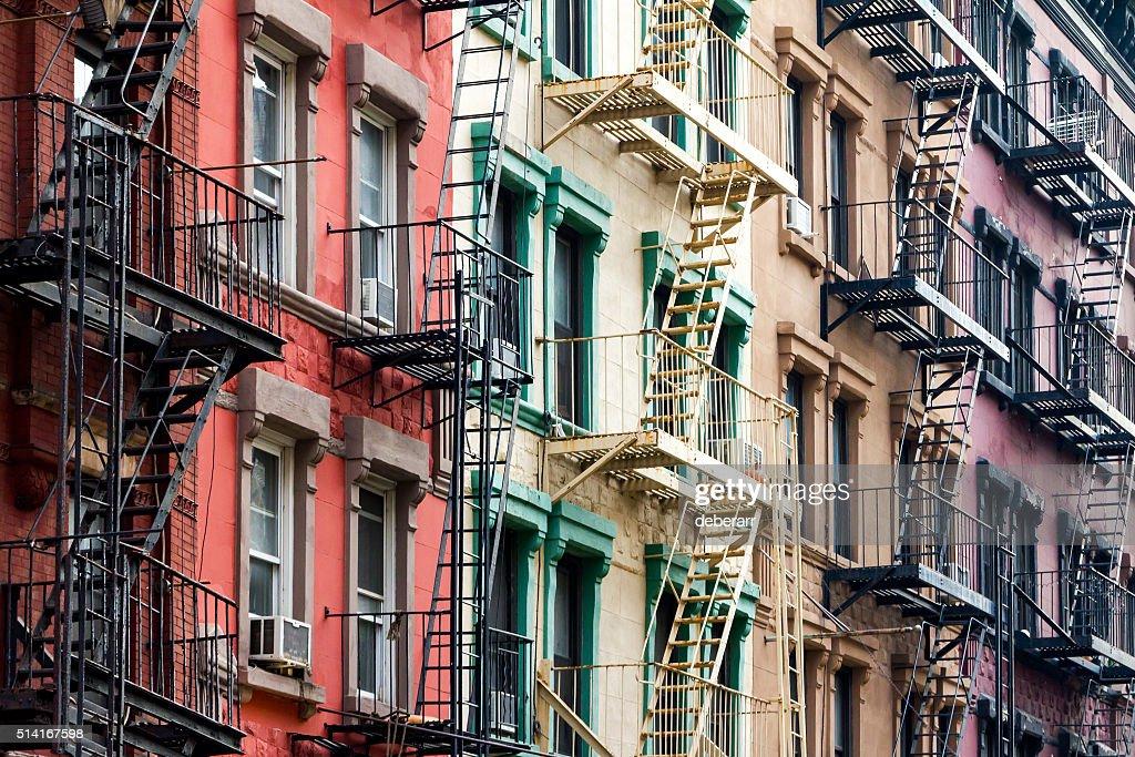 color los edificios de en ciudad de nueva york