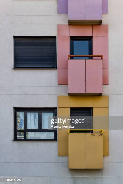 Colored balconies