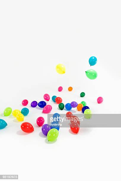 Colored balloons on the ground