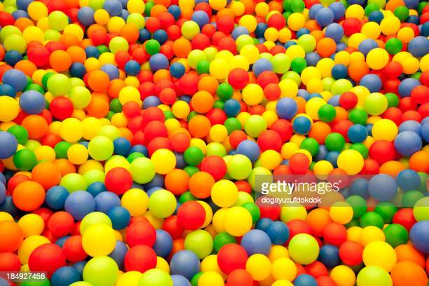 Colored balls from children's ball pit