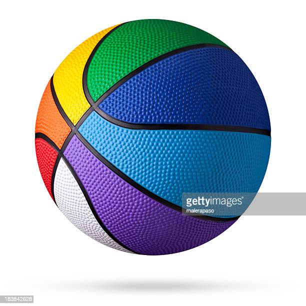 colored basketball. - bouncing ball stock photos and pictures