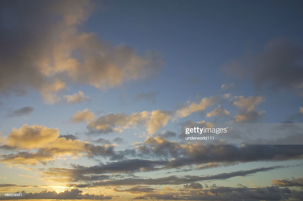 Colored Clouds at Sunset : Bildbanksbilder