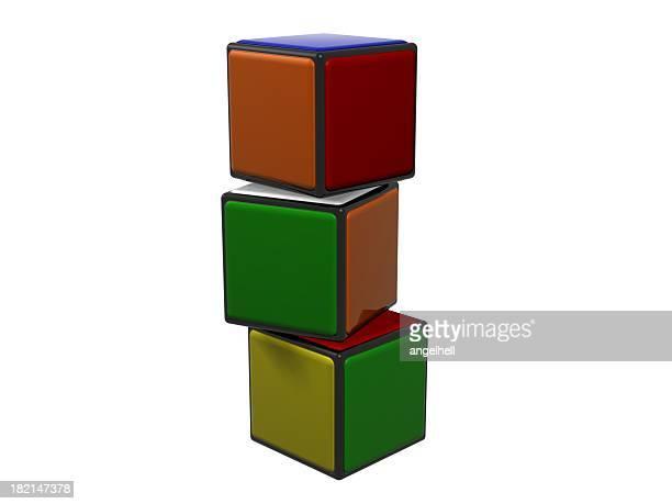 cubi colorati 2 - solidità foto e immagini stock
