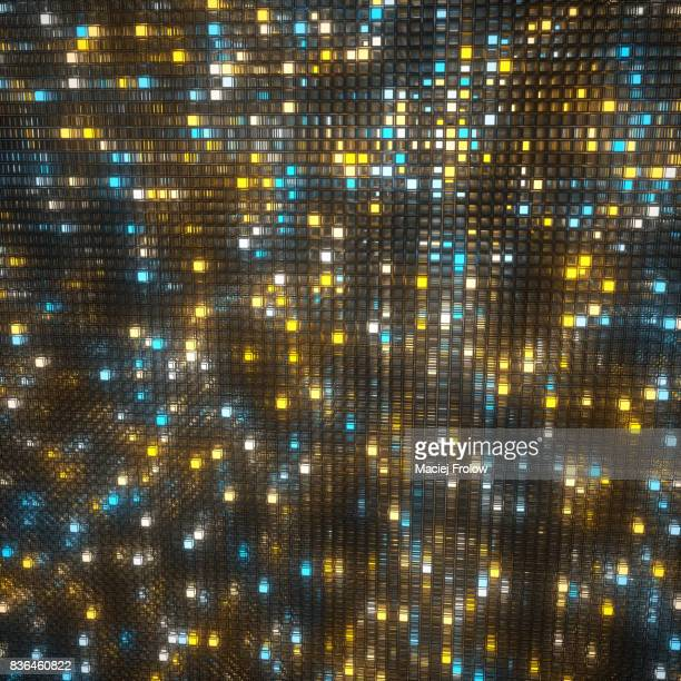 Colored emiting light cubes background