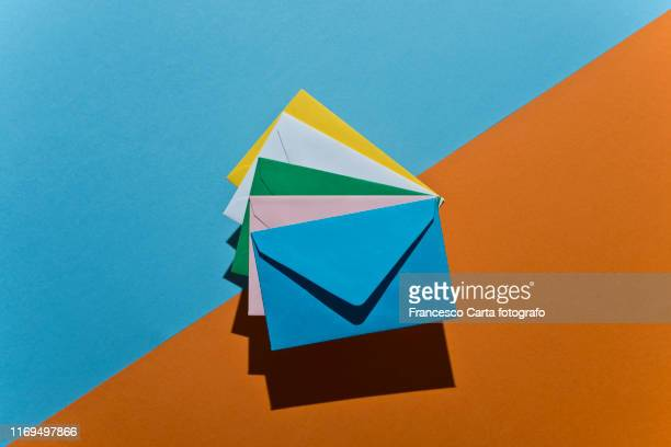 colored envelopes - greeting card stock pictures, royalty-free photos & images