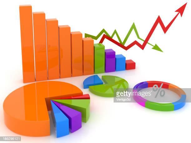 Schéma de couleur financier avec Diagramme en camembert