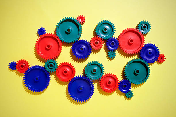 Colored Gears Wall Art
