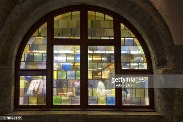 colored glass kitchen window - emreturanphoto stock pictures, royalty-free photos & images