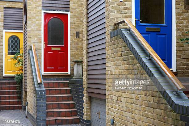 Colored house doors